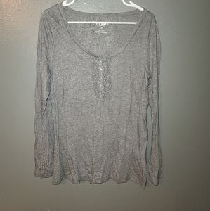 Old Navy long sleeve Grey top size L